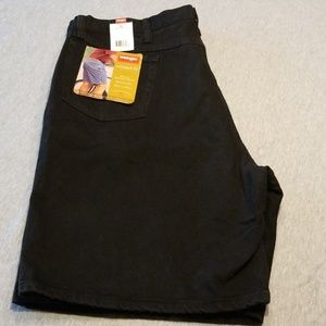 Size 42 Wranglers Relaxed Fit Black Denim Shorts